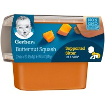Gerber 1st Foods Butternut Squash Baby Food, 2.5 oz Tubs, 2 Count