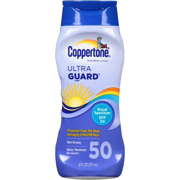 Coppertone Ultra Guard Broad Spectrum SPF 50 Lotion Sunscreen