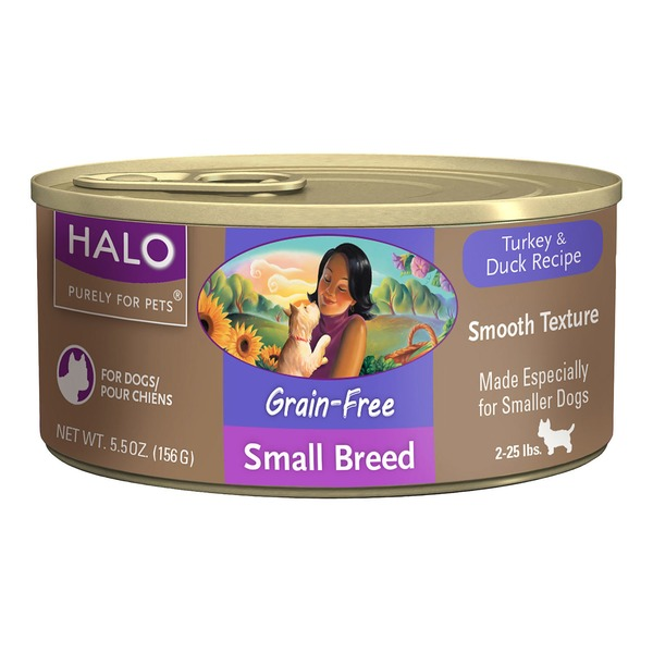 Halo Grain Free Turkey & Duck Small Breed Canned Dog Food Case Of 12