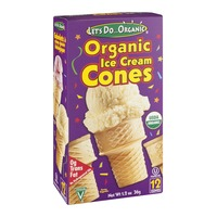 Let's Do...Organic Ice Cream Cones Organic - 12 CT