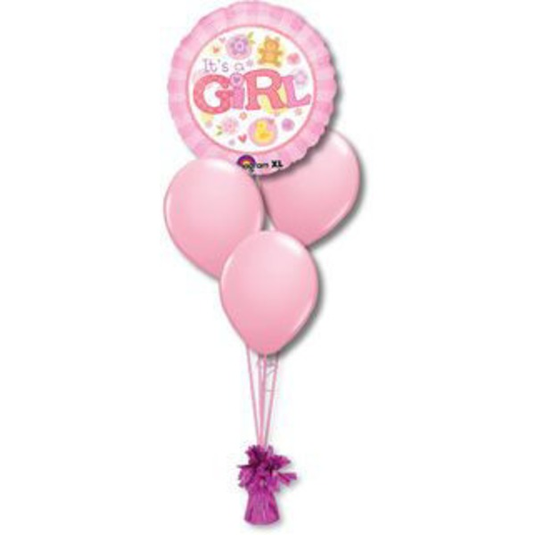Baby Girl Petite Balloon Bouquet
