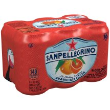 San Pellegrino Sparkling Fruit Beverage, Aranciata Rossa Blood Orange , 11.15 Fl Oz, 6 Count