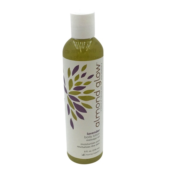 Home Health Almond Glow Lavender Body Lotion/Massage Oil