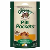 Feline Greenies Pill Pockets Chicken Flavor Cat Treats