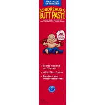 Boudreaux's Butt Paste Maximum Strength Diaper Rash Ointment, 4.0 OZ