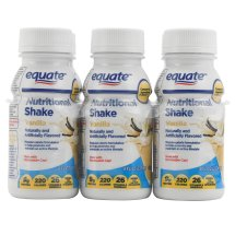Equate vanilla nutritional shake, 8 Oz, 6 Ct