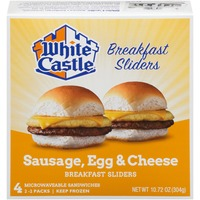 White Castle Microwavable Sausage, Egg & Cheese Breakfast Sliders