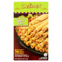 Delimex Beef & Cheddar Rolled Tacos, 56 count, 56 oz