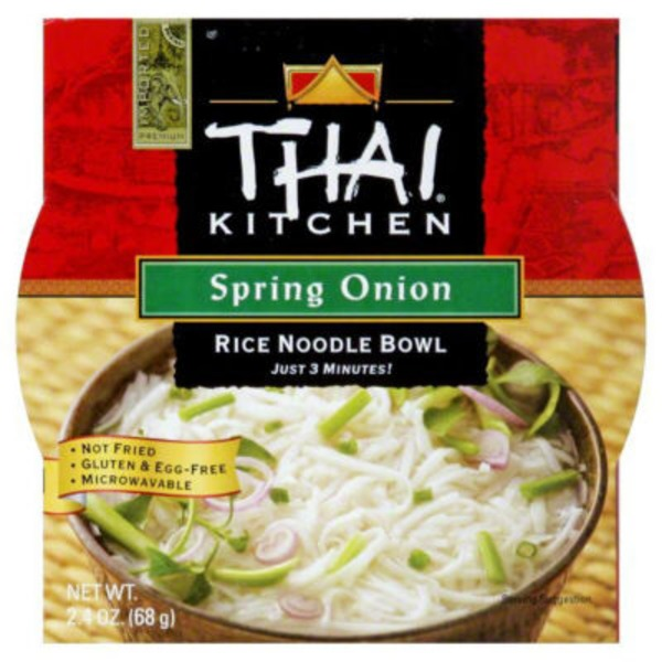 Thai Kitchen Spring Onion Rice Noodle Soup Bowl