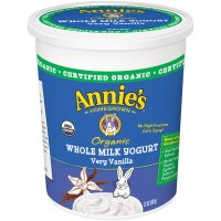 Annie's Organic Whole Milk Very Vanilla Yogurt Yogurt