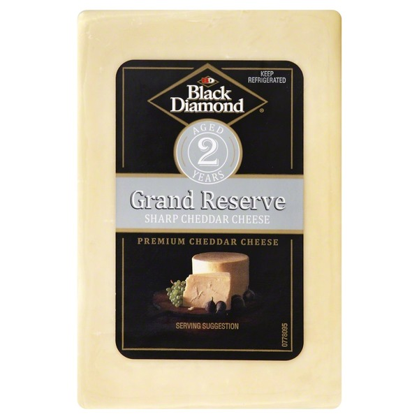 Black Diamond Cheddar Cheese, Sharp, Grand Reserve, Wrapper