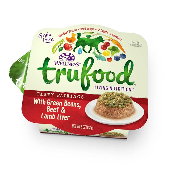 Wellness Tru Food Tasty Pairings With Green Beans Beef & Lamb Liver Wet Dog Food 5 Oz. Case Of 24
