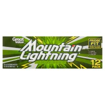 Great Value Mountain Lightning Soda, 12 fl oz, 12 Count