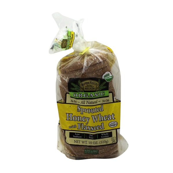 Alpine Valley Breads Organic Sprouted Honey Wheat Bread with Flaxseed