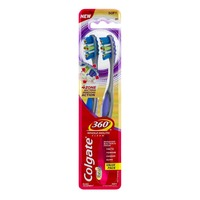 Colgate 360 Whole Mouth Clean Toothbrush Soft Value Pack - 2 PK