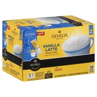Gevalia Kaffe Coffee Single Serve Cups Vanilla Latte
