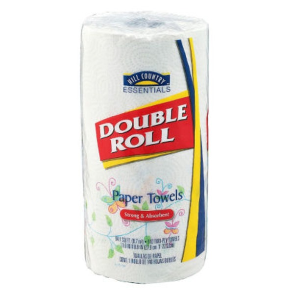 Hill Country Essentials Double Roll 2 Ply Paper Towels