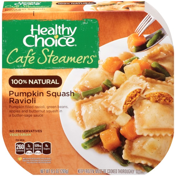 Healthy Choice Pumpkin Squash Ravioli Cafe Steamers