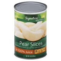Signature Kitchens Bartlett Pear Slices Lite in Pear Juice from Concentrate