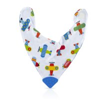 Nuby Bandana Bib with Teether 1 Pack, Style May Vary