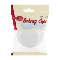 Betty Crocker Baking Cups White Standard Size - 50 CT