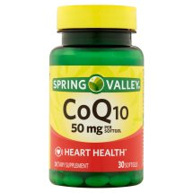 Spring Valley CoQ10 Softgels, 50 mg, 30 Ct