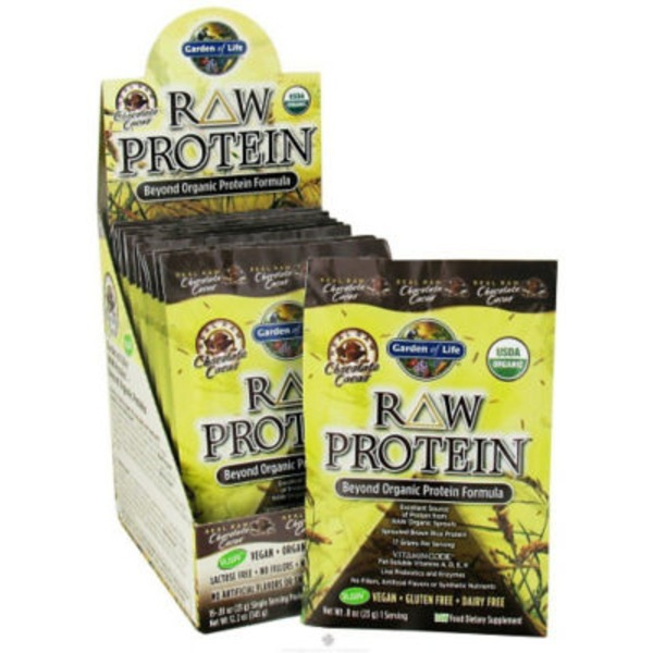 Garden of Life Raw Protein Chocolate Cacao Flavor Packets