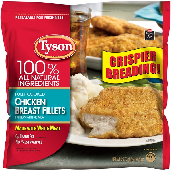 Tyson Frozen Breaded Chicken Breast Fillets