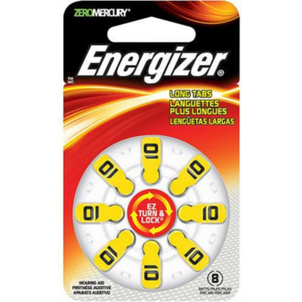 Energizer Hearing Aid Long Tabs Batteries - 8 CT