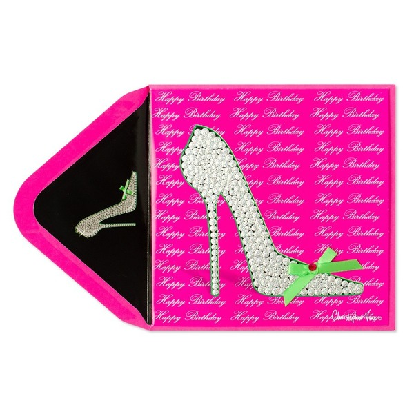 Papyrus Gem Shoes Birthday Card