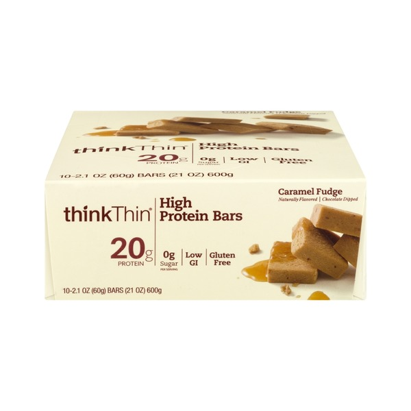 thinkThin High Protein Bar Caramel Fudge - 10 CT