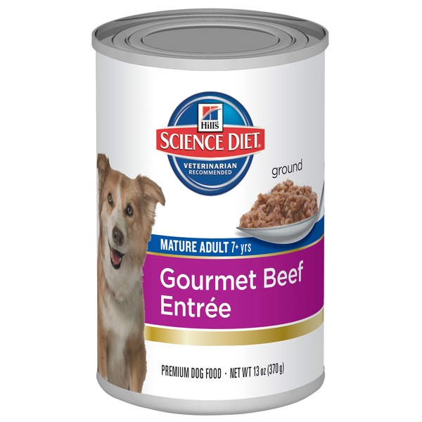 Hill's Science Diet Ground Mature Adult 7+ Yrs Gourmet Beef Entree Premium Dog Food