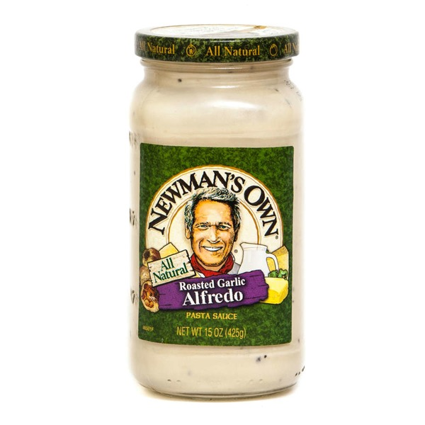 Newman's Own All Natural Roasted Garlic Alfredo Pasta Sauce