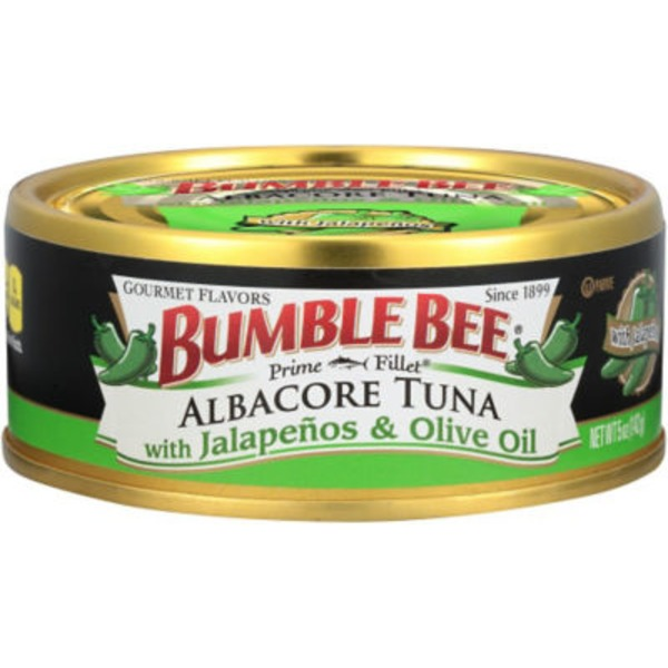 Bumble Bee Prime Fillet Albacore with Jalapenos & Olive Oil Tuna