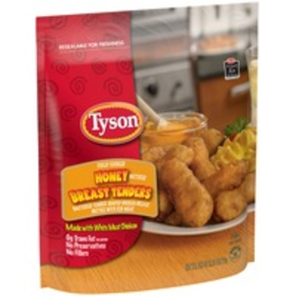 Tyson   Frozen Breaded Bagged Honey Battered Chicken Breast Tenders