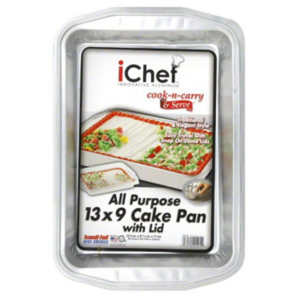 Handi-Foil Cake Pan, with Lid, All Purpose