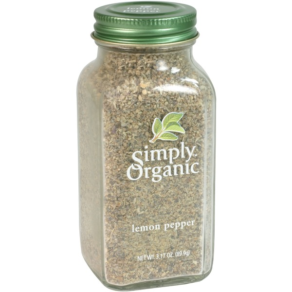 Simply Organic 95% Certified Organic Lemon Pepper