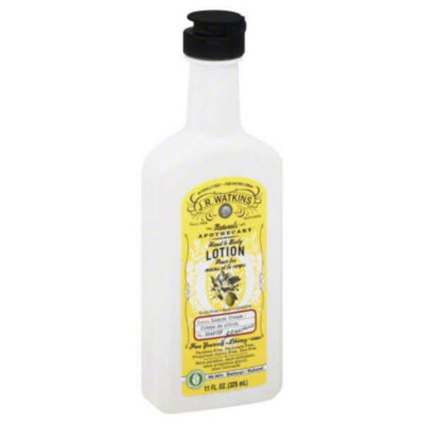 J.R. Watkins Naturals Hand & Body Lotion Lemon Cream