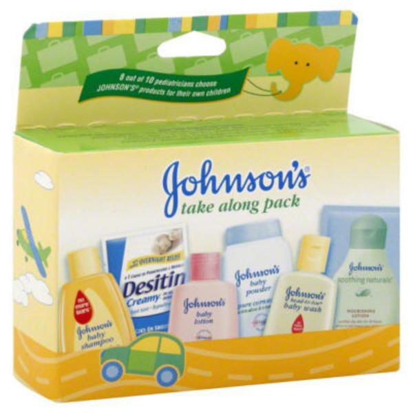 Johnson's® Take Along Pack, 6 Johnson's® Baby Trial Sizes Baby Gift Sets