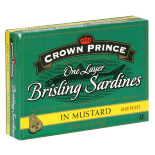 Crown Prince One Layer Brisling Sardines In Mustard