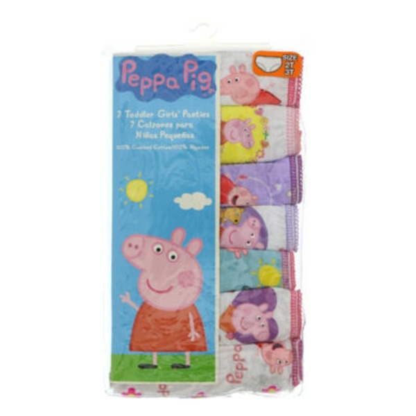 Nick Jr Peppa Pig Girl Underwear 2-3T