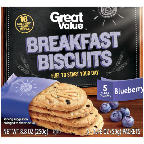 Great Value Blueberry Breakfast Biscuits
