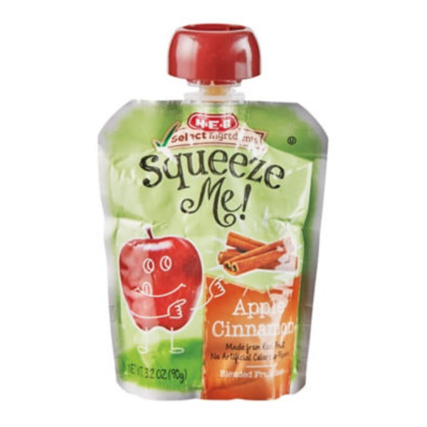 H-E-B Squeeze Me! Apple Cinnamon Individual Pouch