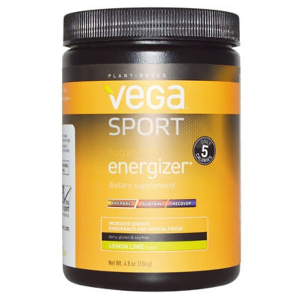Vega Sport Sugar-Free Energizer Lemon Lime Powder Dietary Supplement