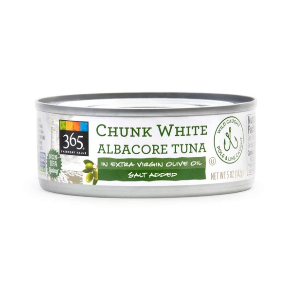 365 Chunk White Albacore Tuna In Extra Virgin Olive Oil