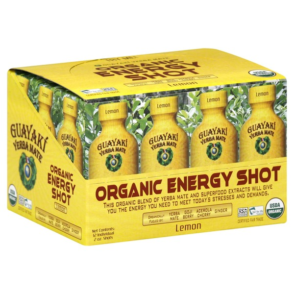 Guayaki Energy Shot, Organic, Lemon