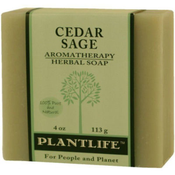 Plantlife Cedar Sage Aromatherapy Herbal Soap