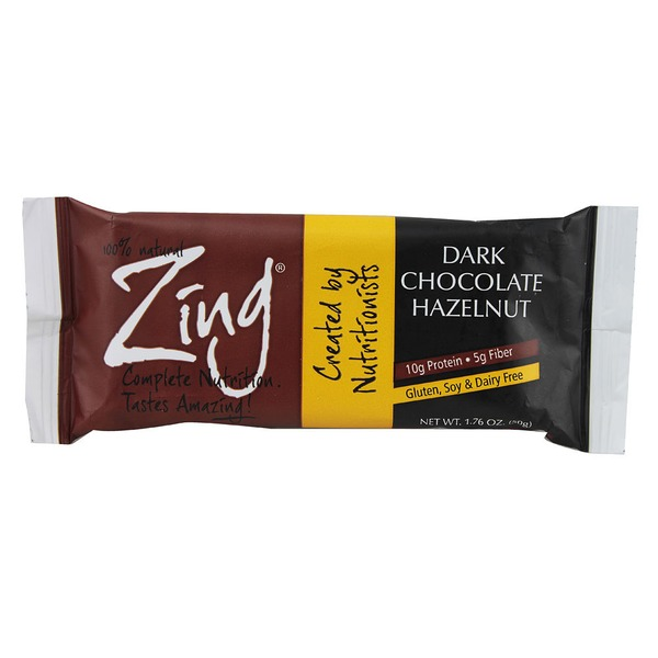 Zing Bars Dark Chocolate Hazelnut Bar 1.76 Oz