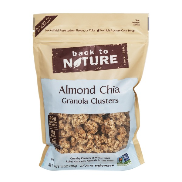 Back to Nature Almond Chia Granola Clusters