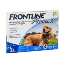 Frontline Plus Flea and Tick Prevention for Medium Dogs, 3 Monthly Treatments